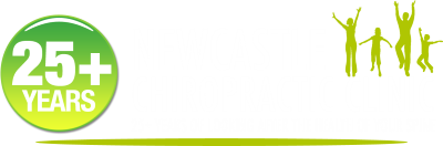 Newcastle Chiropractic Clinic Logo White 25 plus