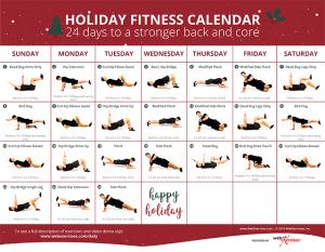 Christmas Fitness Calendar 2019